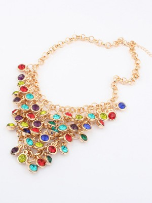 Korean version Colorful wafer curtain Stylish Necklace