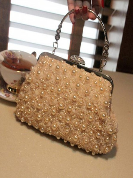 Attractive Evening/Party Handbags With Pearl
