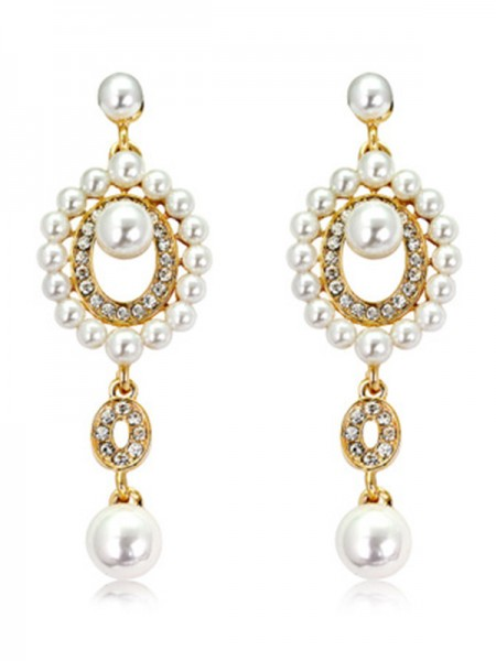 Ladies Unique Pearl Hot Sale Earrings