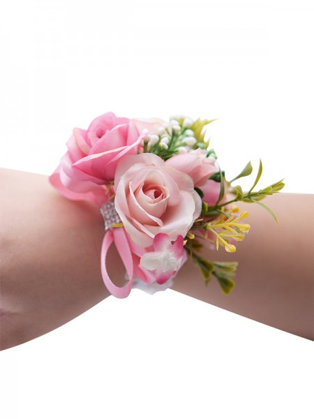 Attractive Cloth Wrist Corsage Wedding Flower