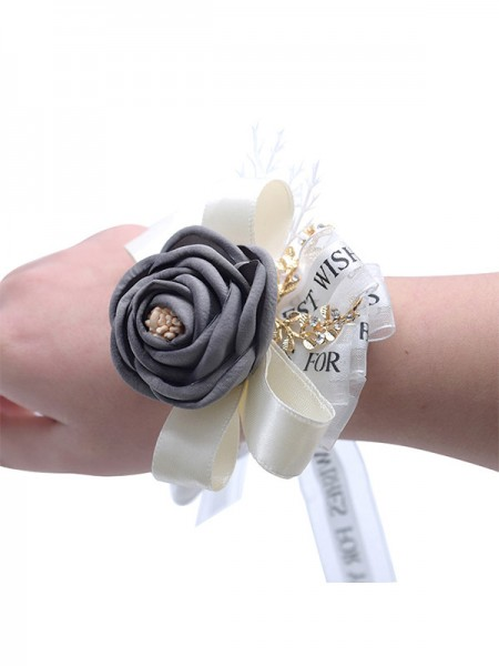 Nice Hand-tied Cloth Wrist Corsage Wedding Supplies