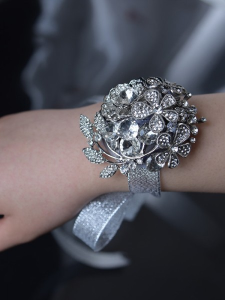 Pretty Satin Bridal Wrist Corsage