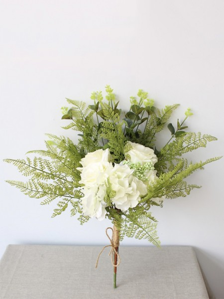 Cute Bridal Bouquets Free-Form Silk Flowers