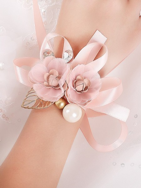 Beautiful Girly Silk Flower Wrist Corsage