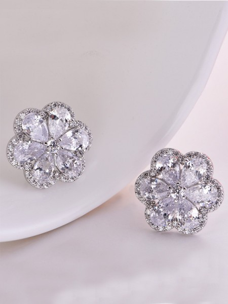 Hot Sale Charming Copper With Zircon Earrings