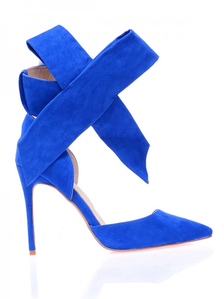 Suede With Knot High Heels S5MA0376LF