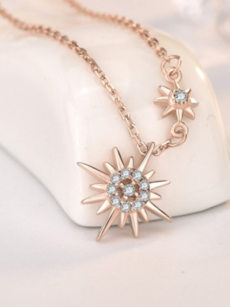 Trending Silver With Sun Necklaces for Ladies