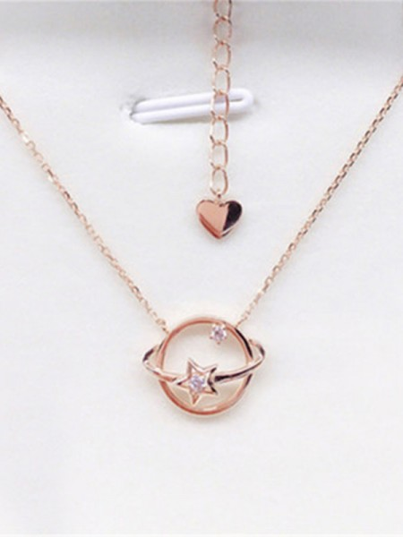 925 Sterling Silver Fashion Necklaces With Universe