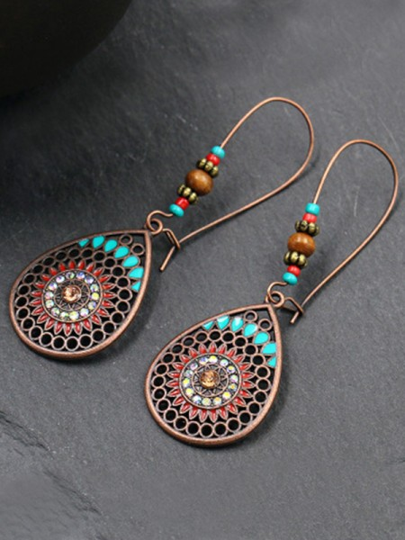 Unique Bohemia Style Alloy With Water Drop Womens Earrings