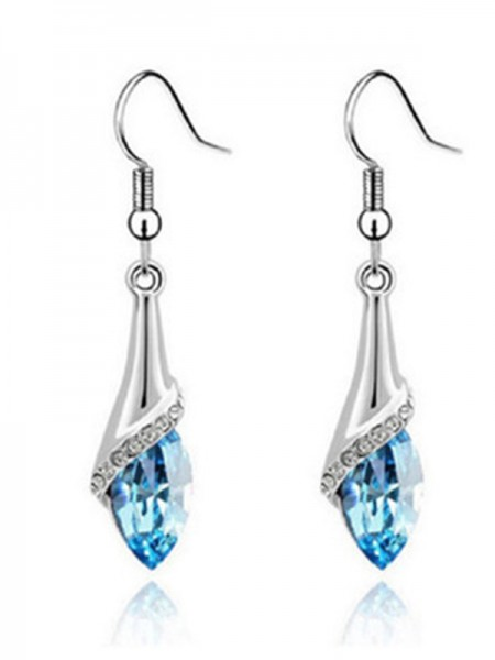 Ladies's Elegant Alloy With Crystal Hot Sale Earrings