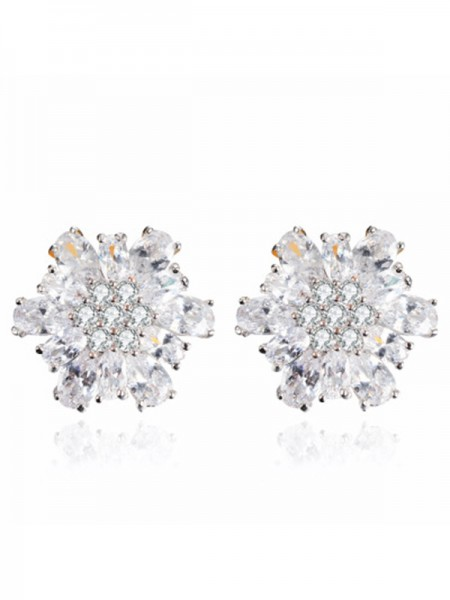 Women's New Alloy With Zircon Earrings