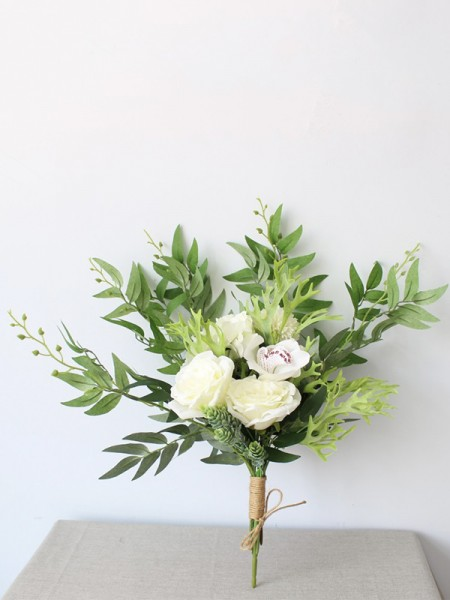 Bridal Bouquets Nice Free-Form Silk Flowers