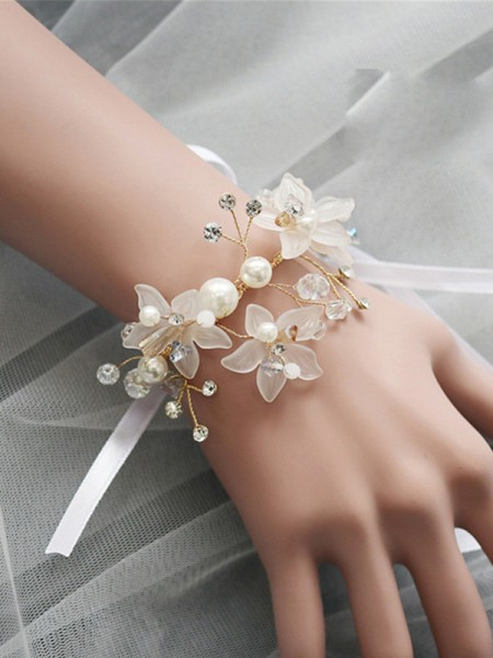 Girly Glass Wrist Corsage Wedding Supplies