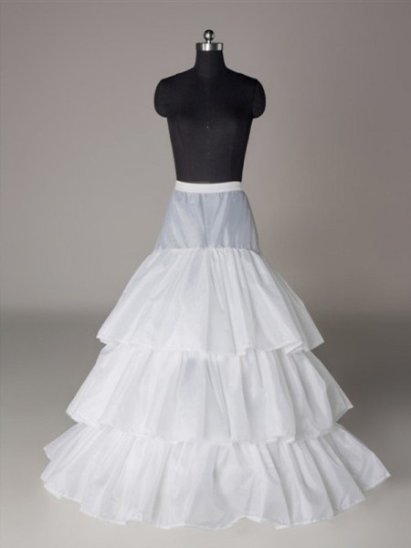 Nylon A-Line 3 Tier Floor Length Slip Style/Wedding Petticoats